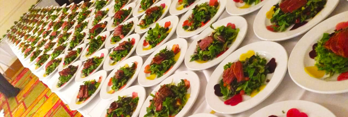 Plated catered meals